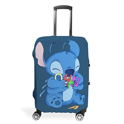 Ohana Cool Various Types Travel Luggage Cover Highly Elastic 18/24/28/32 Inch for Hand Luggage Stitch White White xl(30-32 inch)