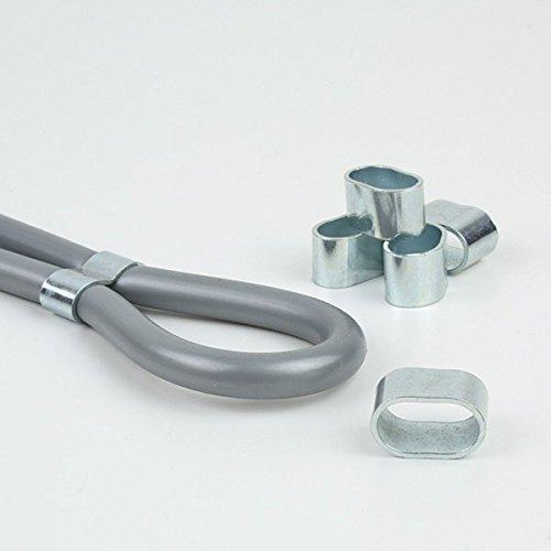 100 Stück Würgeklemmen für 10mm Seil, Stahl verzinkt