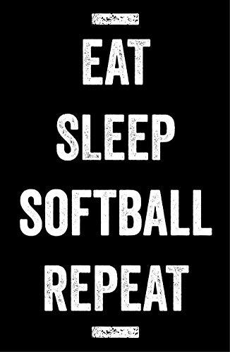 Damdekoli Eat Sleep Softball Poster - 11x17 Inches