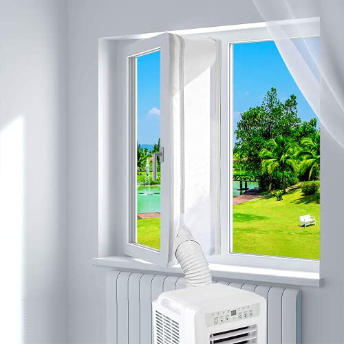 Guarnizione Finestra Condizionatore,Guarnizioni per finestre per condizionatori e asciugatrici portatili,Adatto a tutti i condizionatori mobili condizionatore portatile kit finestra(400cm)