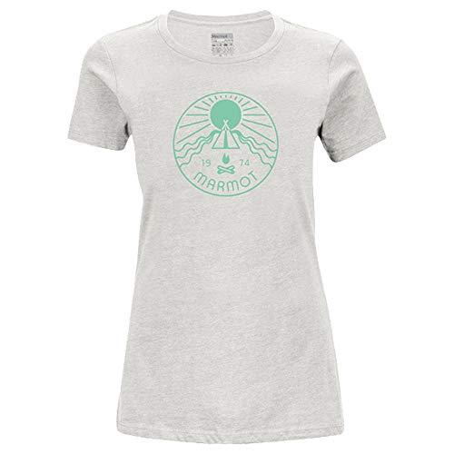 Marmot Prism T-shirt SS pour femme, Turtledove Heather, xl