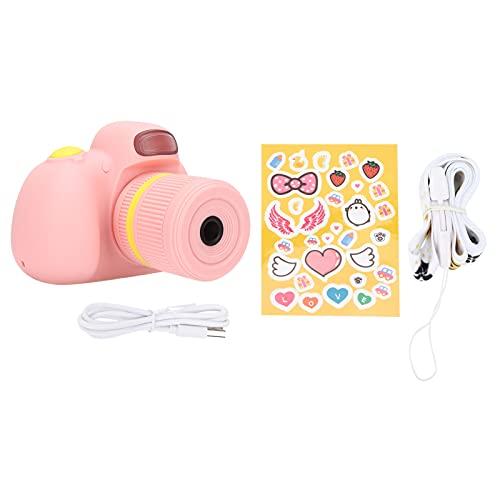 BCXXKJ Cámara Digital para niños Mini grabadora de Video portátil pequeña de Dibujos Animados SLR electrónica para niños(Rosado)