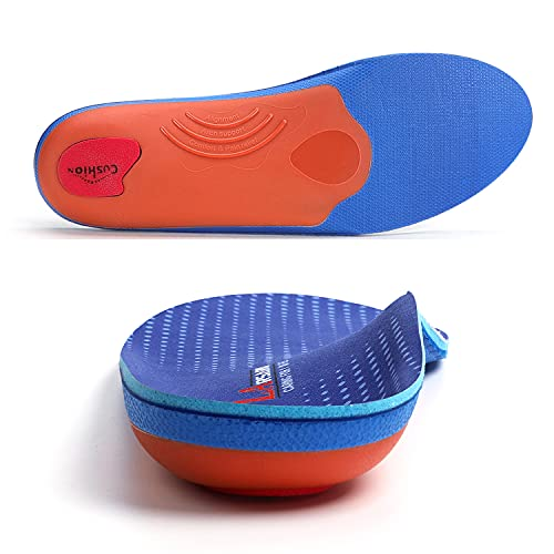 LARSARO High Arch Support Insoles for Women&Men Orthotics Insoles Heel Pain Relief Running Orthopedic Inerts for Plantar Fasciitis,Overpronation,Bunion,Flat Feet,Metatarsalgia