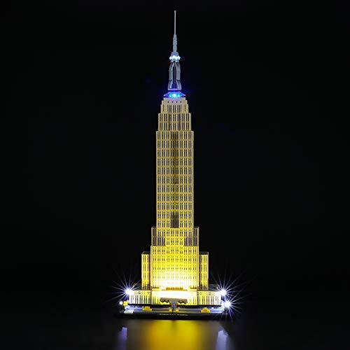 BRIKSMAX Kit de Iluminación Led para Lego Architecture Empire State Building,Compatible con Ladrillos de Construcción Lego Modelo 21046, Juego de Legos no Incluido