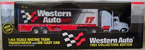 1993 Western Auto Darrell Waltrip  17 1 64 Scale Racing Team Transporter w Die Cast Cab by Racing Champions
