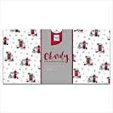 Caja de tarjetas de Navidad con diseño de buzón rojo festivo y nevado – Multipack incl...