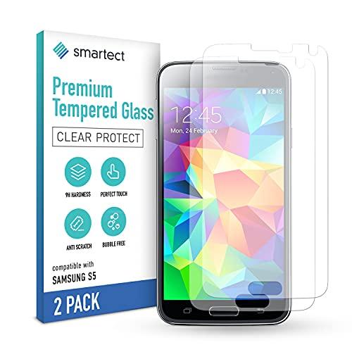 smartect Pellicola Protettiva per Samsung Galaxy S5 / S5 NEO [2 Pezzi] - 9H Vetro Temperato Proteggi Schermo - Design Ultra Sottile - Applicazione Anti-Bolle - Anti-Impronte