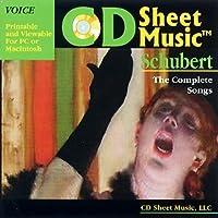 CD Sheet Music シューベルト歌曲全集