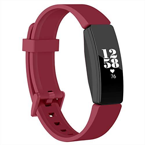 Recoppara Fitbit Inspire HR Correa, Bandas Deportivas Suaves e Impermeables compatibles con Fitbit Inspire/Inspire HR/Ace 2, Mujeres Hombres (Rojo, Grande)