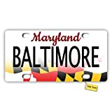 Tobe Yours License Plate Cover Maryland 2016 - Baltimore Printed Auto Truck Car Motorcycle Front Tag Metal License Plate Cover Frame Cover 6'x12'