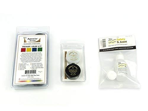 Apoxie Sculpt Color Kit Bonus Bundle - Primary Colors (Red, Blue, Yellow,...
