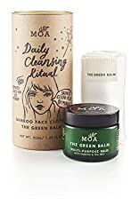 Hot cloth cleansing balm kit Organic beauty Balm with a super-soft bamboo face cloth Give your skin a balancing deep cleanse, remove excess oils and impurities Removes eye makeup and leaves the skin balanced and toned Ideal for oily, acne skin and se...