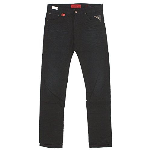 Replay, Lenrick Regular Slim, Herren Herren Jeans Hose Denim Black Used W 29 L 34 [19834]