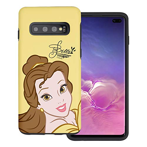 WiLLBee Compatible with Galaxy S10 Plus Case (6.4inch) Princess Beauty and The Beast Layered Hybrid [TPU + PC] Bumper Cover - Face Belle