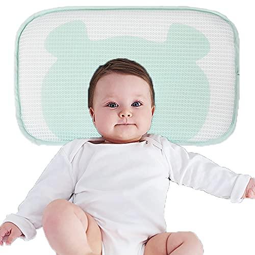 HXPainting Almohada Bebé Recién Nacido Cabeza Shaping Almohada para Dormir Transpirable Práctica para Bebé Previene La Cabeza Plana Suministros Almohadilla(0-12mes)