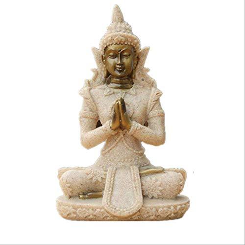 LKXZYX Boda Buda Decorativos Figuras Salon candelabros de Jardin Exterior Estilo Buda...