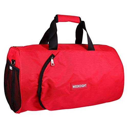 VORCOOL Travel Duffle Handbag Gym Bag Protable Fitness Tote Pouch Workout Exercise Overnight Travel Bag Trip Luggage Bag Red