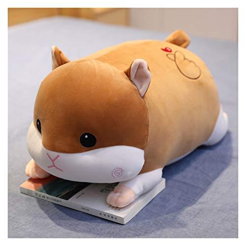 HOUMEL Cojín de peluche con diseño de ratones y ratones, para dormir, para cama, mesita de noche, para niños y niñas, regalo 336 (color: marrón, tamaño: 90 cm)