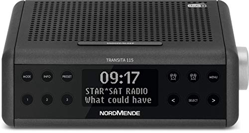 Nordmende Transita 115 DAB Radiowecker (DAB+, UKW, Snooze Funktion, Wecker, Sleeptimer) anthrazit