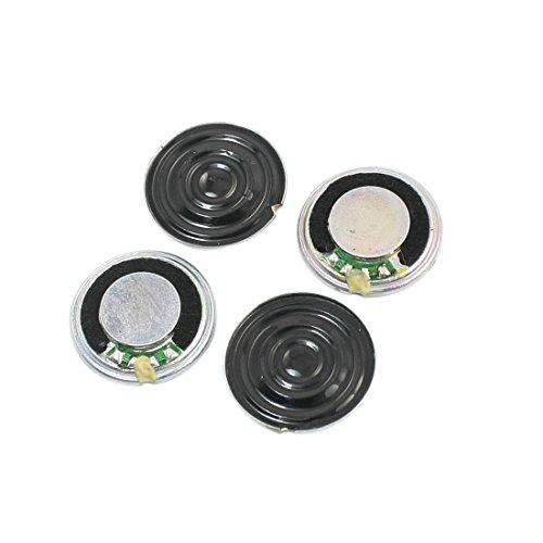 Sourcingmap® 4 Stück 1Watt 8 Ohm runder interner Magnet Lautsprecher 20mm Dmr. Metall de