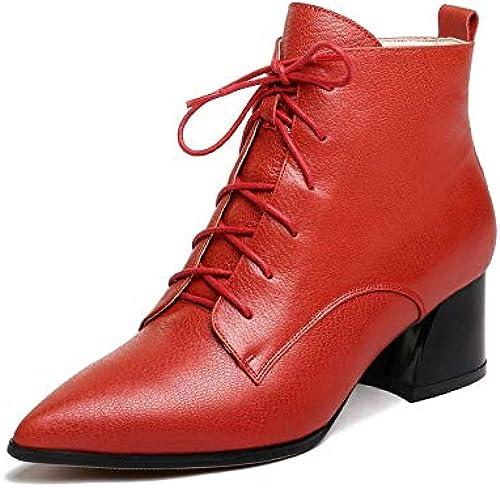 HOESCZS 2019 Femmes Bottines Carrée Talon Haut Tous Les Matchs Plateforme Zipper Bottes d'hiver Femmes Chaussures Femmes Bottes Grande Taille 34-43