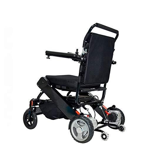 FTFTO Lebendige Dekoration Leichter zusammenklappbarer Elektrorollstuhl mit bürstenlosem Motor FDA-zugelassener Rollstuhl mit Joystick-Steuerung