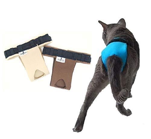 2 Culottes pour chat incontinent urinaire - Le lot URGENCE by EDENVANE (permet la défécation en litière)