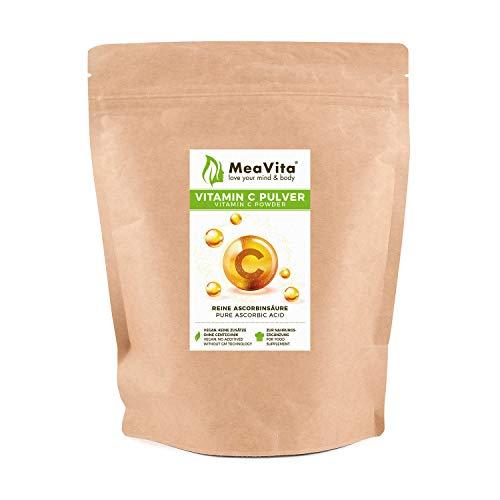MeaVita Vitamin C Pulver, Ascorbinsäure, 1er Pack (1x 400g) vegan & ohne Zusätze