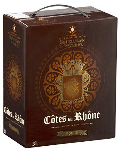 Vin Rouge - Sélection au Verre (3L) - AOP Côtes du Rhône - Bag in Box - Cépages: Grenache, Syrah