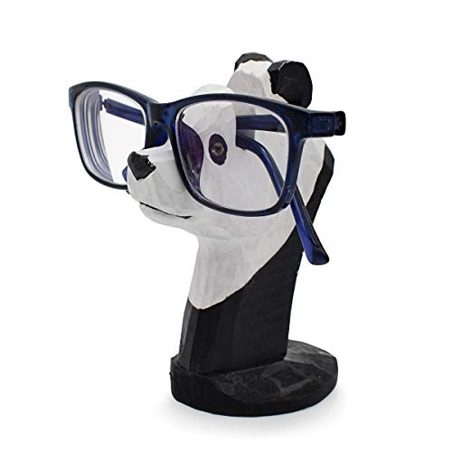 VIPbuy Handmade Wood Carving Eyeglasses Spectacle Holder Stand Sunglasses Display Rack Home Office Desk Décor Gift (Panda)