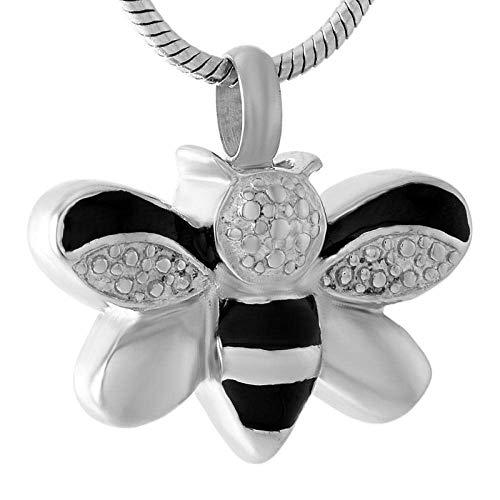 Urne Medaillon Crémation Asche Keepsake Honey Bee Halskette Creme Memorial Anhänger Urn for Ashes Keepsake Schmuck Stil A Halskette Anhänger