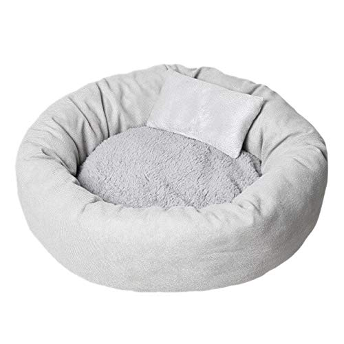 JDDJ Cama para perro o gato, suave cojín para sofá cómodo para cachorros y perros, 60 x 16 cm, para 8 kg, color gris