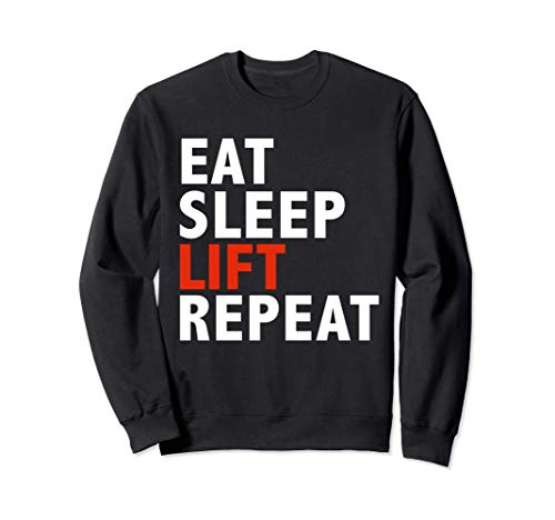 Funny Eat sleep lift and repeat Workout Body Building Gift Sudadera
