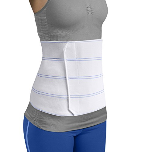 Mars Wellness Premium Plus Size Bariatric Abdominal Binder - 12 4 Section/Panel - Bariatric Binder Abdominal Brace for Men or Women - Fits Waist Sizes 55 - 72
