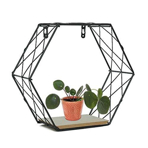 Diafrican Sechseckig Wandregal, Geometrisch Regal, Geometrische Dekoration für Wohnzimmer Schlafzimmer S