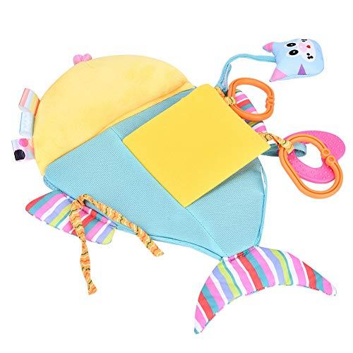 Espejo de juguete para bebé, Espejo de juguete para coche colgante con forma de pez, Regalos de cumpleaños Caricatura linda para cuna para seguridad infantil