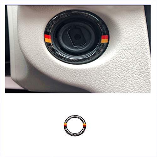 ZZMOQ para Mercedes Benz Clase C W204 2011-14, Estilo de Fibra de Carbono, Llave de Encendido de Coche, decoración Circular, Cubierta, moldura,Accesorios Interiores