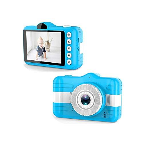 SYXX Cámara niños, en pantalla grande de alta definición cámara de vídeo digital, juguete de los niños cámara digital con 3,5 pulgadas de pantalla LCD, tarjeta selfie/soporte de vídeo de memoria, re
