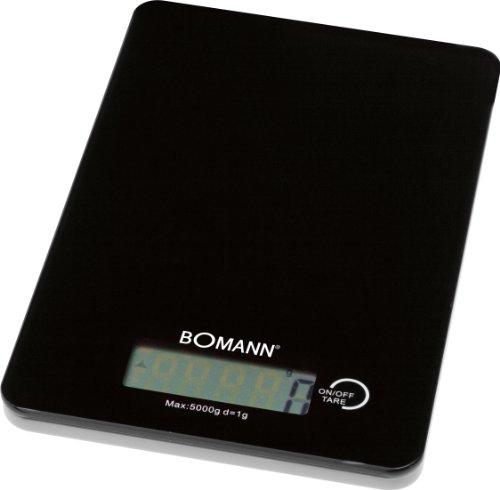 Bomann KW 1415 CB digitale keukenweegschaal, 5 kg stappen, 1 g, tarra-functie, zwart