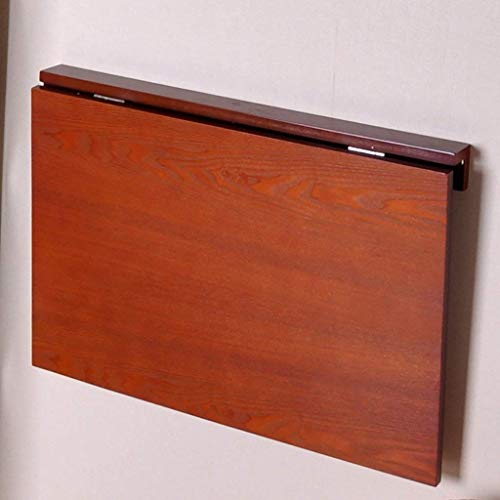 XCJ Klapptisch Wand-Esstisch Lern-Schreibtisch Computertisch Wandtisch Klapptische Tables L60 * W40 * H32Cm,Honigfarbe