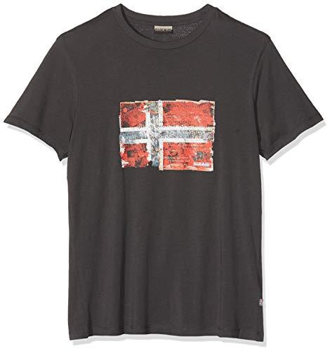 NAPAPIJRI Seitem T-Shirt, Grigio (Volcano H74), XX-Large Uomo