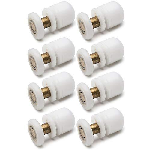 poulies 23mm Roue Diamètre supérieur inférieur de salle de bain de remplacement de pièces YuanQian Lot de 8roulettes pour porte de douche Singel Amsterdam