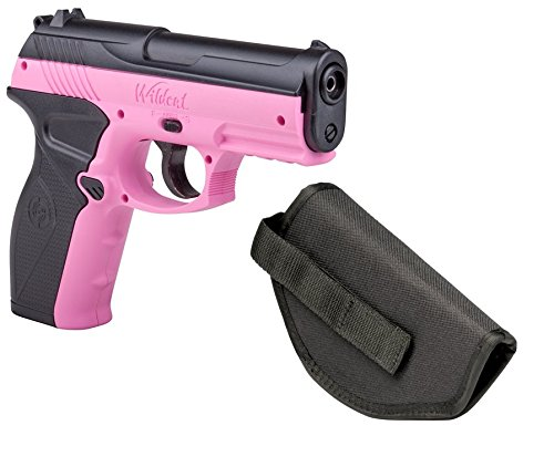 Crosman P10PNKKT Wildcat Kit Co2 Powered Semi-Auto BB Air Pistol with Holster, Pink, 4.5mm