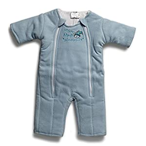 Baby Merlin's Magic Sleepsuit – Swaddle Transition Product – Microfleece – Blue – 6-9 months