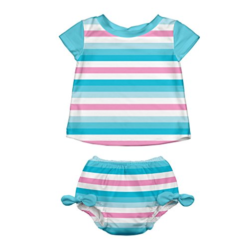 i play. by green sprouts Rashguard Set with Reusable Swim Diaper | All-day UPF 50+ sun protection, wet or dry
