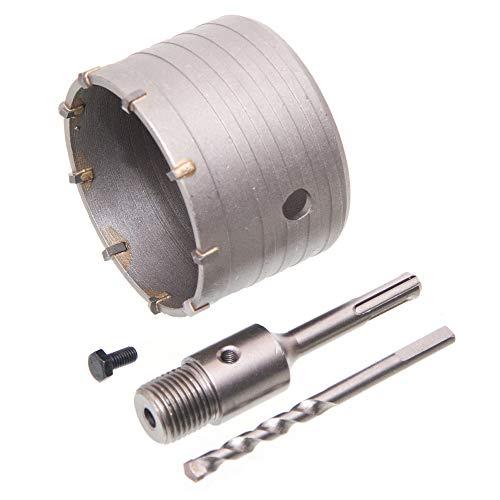2 tgl HM Lochsäge Bohrkronen Satz Dosenbohrer Ø 90 mm für Beton mit SDS-Adapter