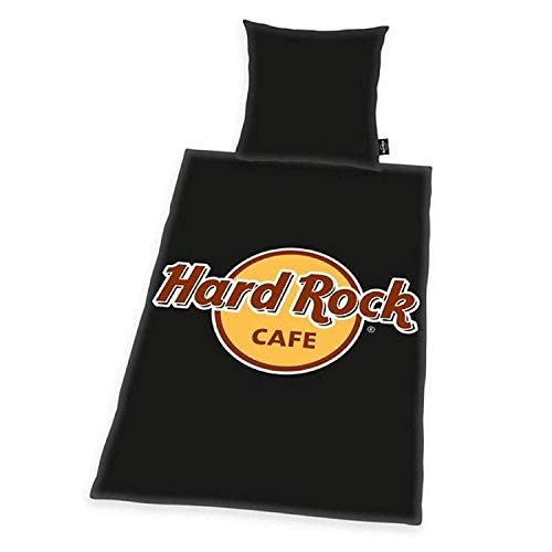 Hard Rock Cafe Bettwäsche 135x200cm schwarz, Renforce