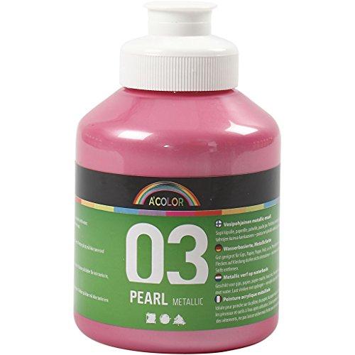 A-Color Farba akrylowa, jasnoróżowa, 03 - metaliczna, 500 ml