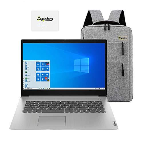 2020_Lenovo IdeaPad 3 17,3 Zoll HD+ Laptop, AMD Quad-Core Ryzen 7 3700U (Beat i7-7500U), 12GB RAM, 128GB PCIe SSD,1TB HDD, Radeon Vega 10, Webcam, HDMI, Windows 10 /Legendary Accessories