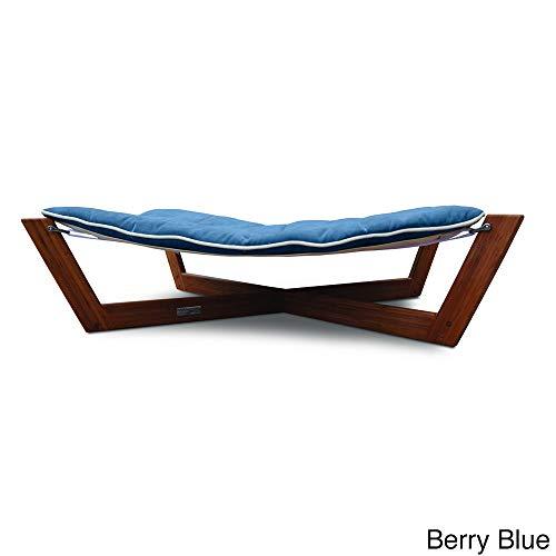 Bambu Cross Pet Hammock Color: Berry Blue